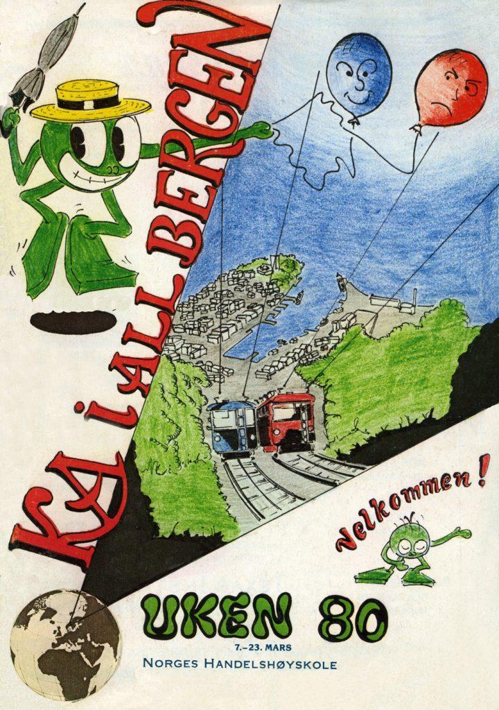 Revyplakaten til UKErevyen slik den fremsto i 1980