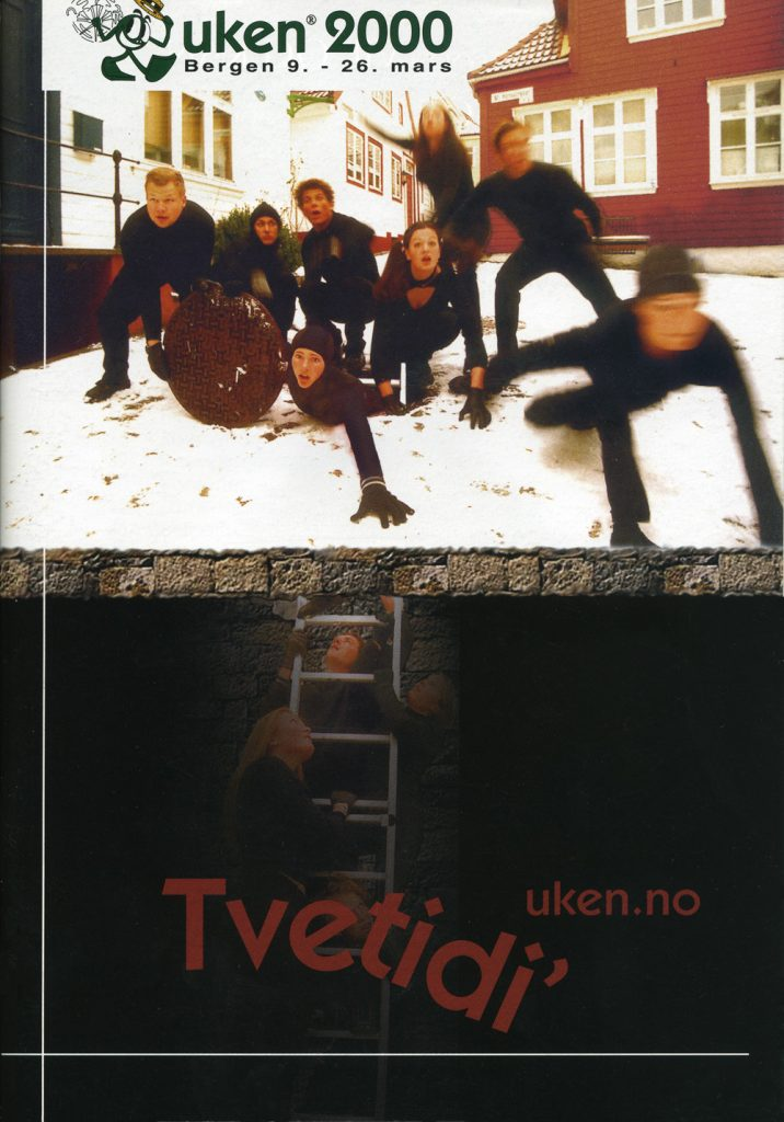 Revyplakaten til UKErevyen 2000 - Tvetidi'